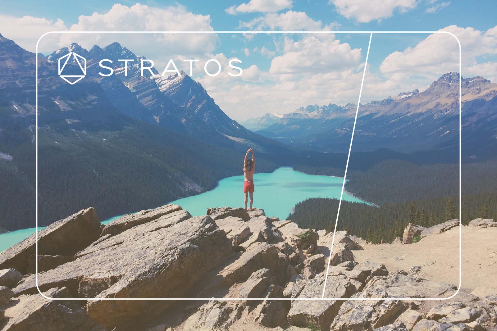Stratos Card Ad Design