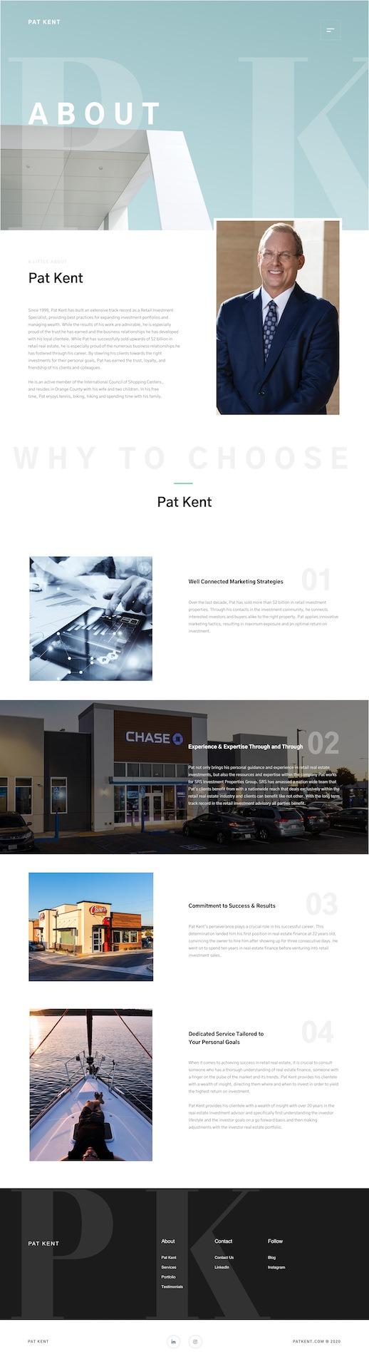 Dorian Media - Website Design - Pat Kent - About