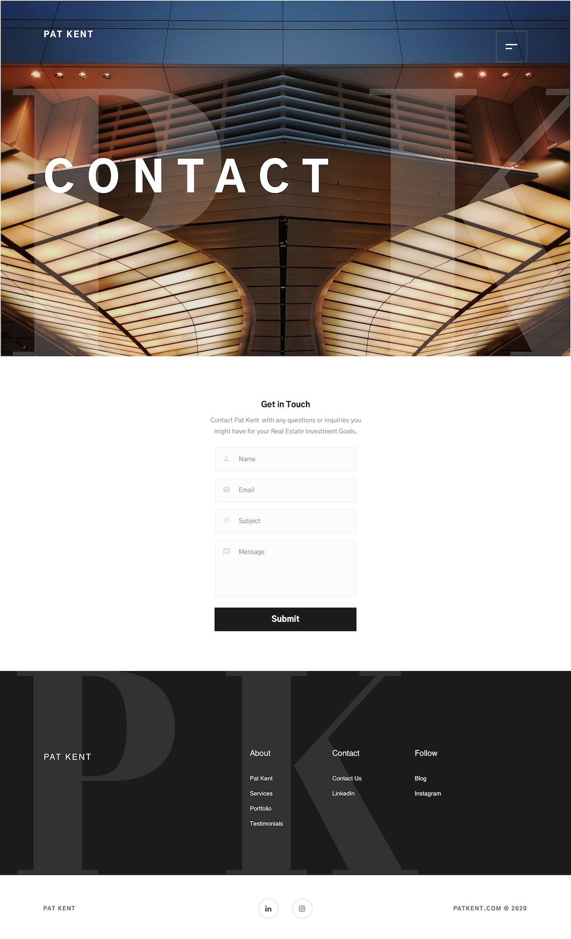 Dorian Media - Website Design - Pat Kent - Contact