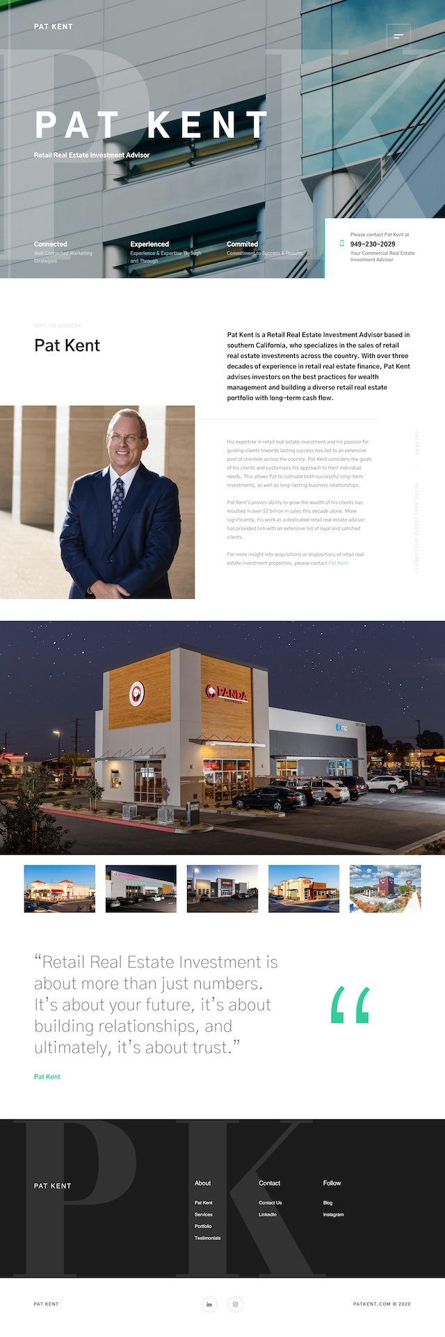 Dorian Media - Website Design - Pat Kent - Home Page